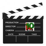 Clapper med TioMila-logo