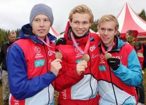 NM stafett Kongsberg medalje laget