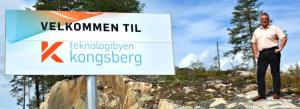 Kongsbergs ordfører Vidar Lande ønsket selvfølgelig Raumars delegasjon velkommen til teknologibyen