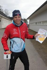 Klubbens nye leder Bent Skatvedt prøvde seg på suupersprinten!