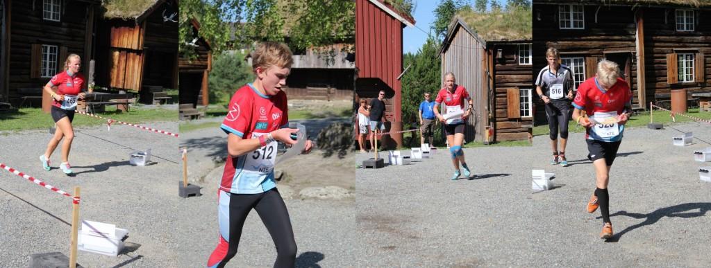 Synne, Andreas, Mathilde og Anders i farta under sprinten! (arrangørfoto)