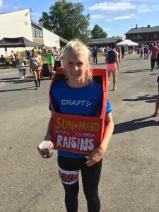 Mathilde klar for kretsstafett i 2014